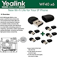 Yealink WF40 6-Pack USB Dongle Wi-Fi plug and play 150 Mbps