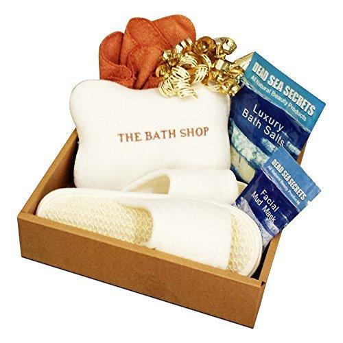Premier Dead Sea Spa & Bath Gift Set✔ Soothing Dead Sea Bath Salts✔ Healing Dead Sea Mud Mask✔ Relaxing Spa Pillow✔ Soft Facial Cloth✔ Comfy Spa Slippers✔ 100% Money Back Guarantee✔