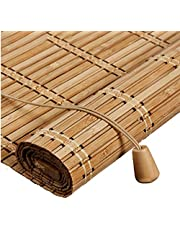 Outdoor Bamboo Window Shades Blinds,Waterproof Wood Roller Shades,Bamboo Roller Blind Curtain Blinds,Light Filtering Sun Shades Window Blinds,for Patio,Doors,Porch,Customizable (70x160cm/28x63in)