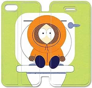 South Park Kenny Y3V76Y4 iPhone 6 6S Plus 5.5 de tirón fundas de caso Funda de piel Funda para Teléfono F6M78L3