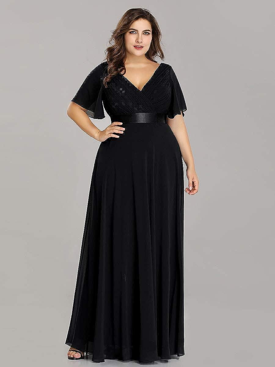 Alisapan Womens Plus Size Bridesmaid Dress Chiffon Long Formal Evening Prom  Dresses 9890