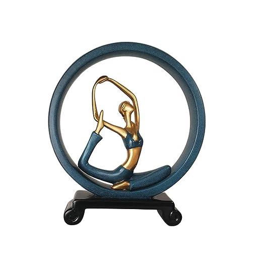 Qghao Escultura Yoga Girl Estatua, Moderno Arte Escritorio ...