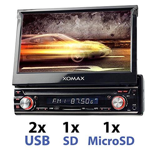 "XOMAX XM-VDA713 Android 6.0.1 Autoradio / Naviceiver avec navigation GPS + Écran tactile de 7""/18cm + Support WIFI / 3G / 4G / DAB+ / OBD2 + Connexion Bluetooth + SD (128GB) et USB (2TB) on sale"