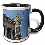 3dRose Danita Delimont - Parliament Buildings - Austria, Vienna, Austrian Parliament Building-EU03 LEN0088 - Lisa S. Engelbrecht - 11oz Two-Tone Black Mug (mug_74093_4)