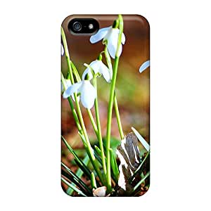 Awesome FeX17623nMYO AMY KS Defender Tpu Hard Case Cover For Iphone 5/5s- Fresh Snowdrops