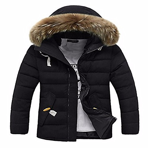 ZHUDJ Men'S Regular Padded Coat,Simple Casual/Daily Solid-Cotton Cotton Long Sleeves Navy blue