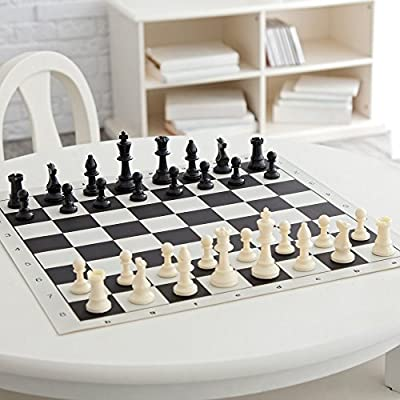 Tournament Roll-Up Chess Set in Carrying Tube