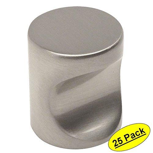 25 Pack - Cosmas 3312SN Satin Nickel Contemporary Cabinet Hardware Finger Pull - 3/4