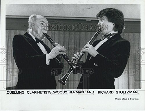 1986 Press Photo Woody Herman Richard Stoltzman Clarinet (Richard Stoltzman Clarinet)
