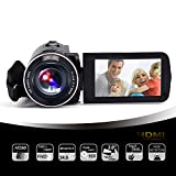"""Camera Camcorders,Putars Portable 1080P 24MP 16X Zoom HD Video Recorder Camera FHD 1920X1080P Digital Video Camcorde with 3.0"""" LCD and 270 Degree Rotation Screen(include 8G SD Card)"""