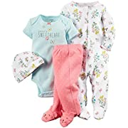 Carter's Baby Girls' 4 Piece Layette Set (Baby) - Floral - 3M