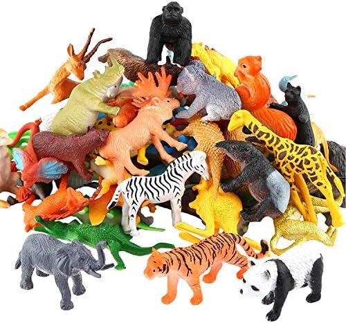 Plastic Wild Farm Zoo Animal Model Figure Statue Toy for Kids Gift Ornament