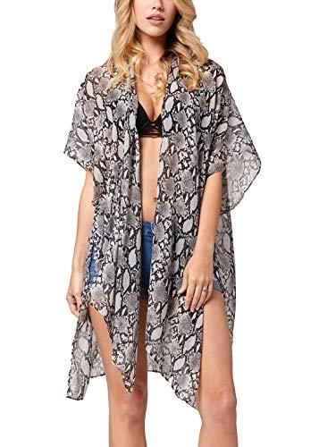 Swimsuit Cover ups for Women - Beach Kimono for Swimwear Bikini Bathing Suits Summer Coverup Dresses - Snake Charmer ()