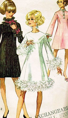 (Simplicity 7914 Misses A-line Dress with Princess Seams Sewing Pattern, Formal Party Dress, Wedding, Prom Vintage 1968)