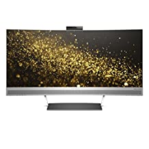 """Hewlett Packard W3T65AA#ABA Envy 34"""" Ultra WQHD Curved Monitor with Webcam and Audio by Bang and Olufsen (Black/Silver)"""