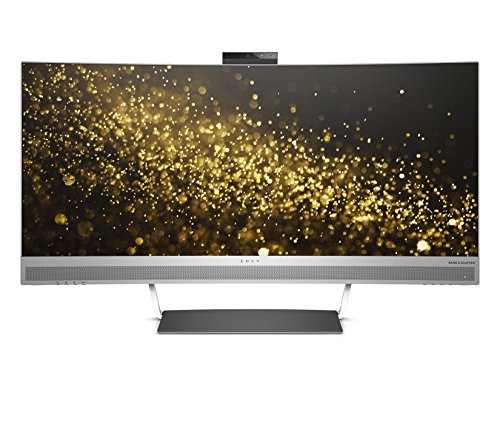HP ENVY 34 Curved Display Ultra WQHD Curved Monitor with AMD Freesync Technology, Webcam and Audio by Bang & Olufsen (Black/Silver) (Hp Monitor Webcam)