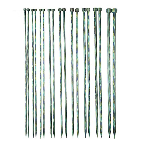 Knit Picks 10'' Caspian Wood Straight Knitting Needles by Kaige