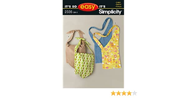 Simplicity Sewing Pattern 2335 Its So Easy Bags, One Size