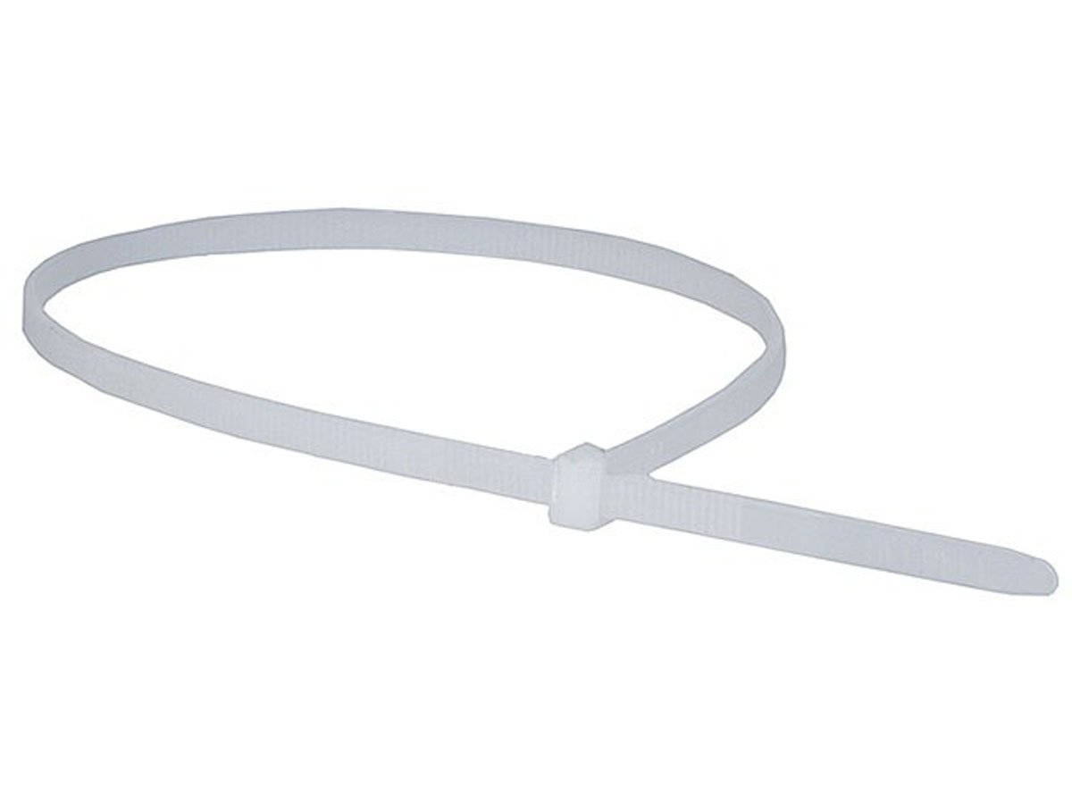 Monoprice Cable Tie 14 inch 50LBS - White (2 Packs of 100)