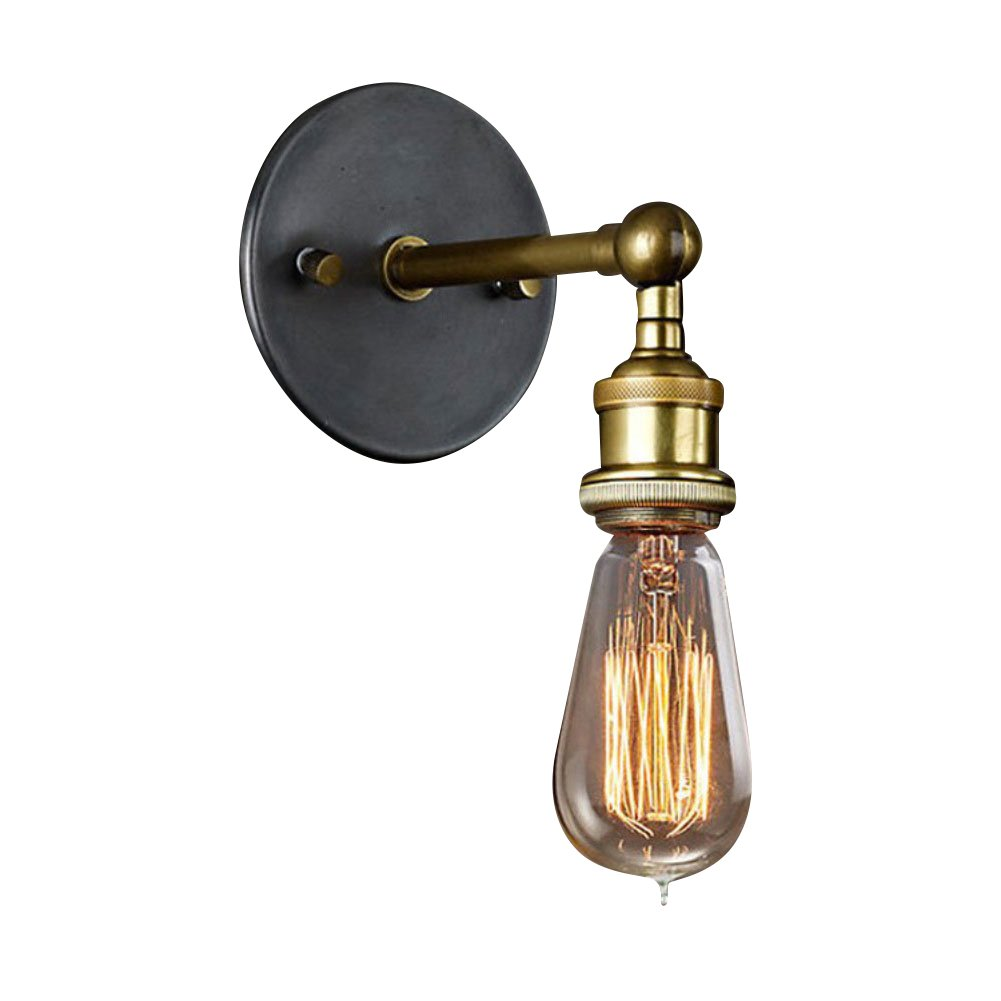 Cozyle Vintage Industrial Copper Metal Wall Lamp without Lampshade Copper HomeTell