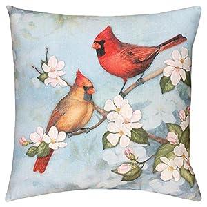 Manual Spring Cardinal Decorative Pillow