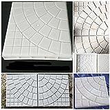 lovely design ideas for a concrete patio JTW- DIY Square Shape Home Garden Path Concrete Brick Mold Paving Pavement Walkway Stone Pavement mold concrete mold stepping Plastic (25x25x5 cm)