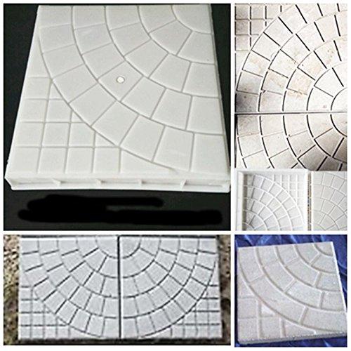 JTW- DIY Square Shape Home Garden Path Concrete Brick Mold Paving Pavement Walkway Stone Pavement mold concrete mold stepping Plastic (25x25x5 cm)