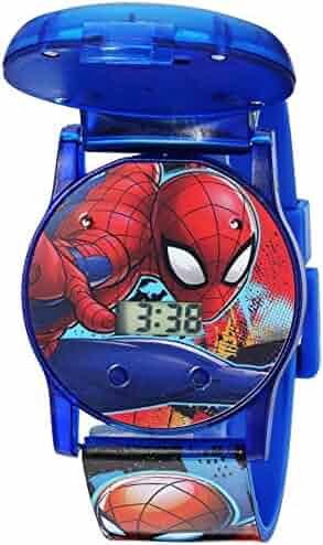 Marvel Boys' Quartz Watch with Plastic Strap, Blue, 24 (Model: SPD4493)