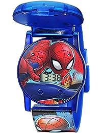 Boys' Quartz Watch with Plastic Strap, Blue, 24 (Model: SPD4493)