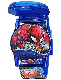 Marvel - Reloj de cuarzo para niño, de plástico, color: azul (modelo: SPD4493)