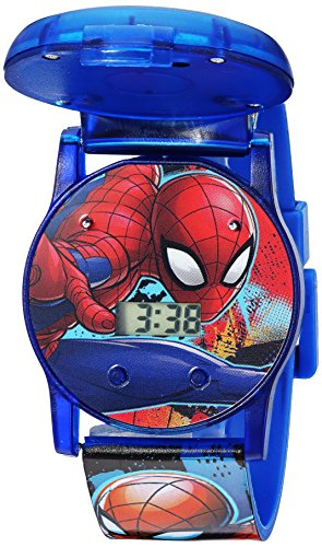 Marvel Boys' Quartz Watch with Plastic Strap, Blue, 24 (Model: SPD4493) ()