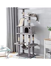 adawd Flerstegs kattträd aktivitetstorn med abborre, hängmatta, naturliga sisal tillskott husdjur hus