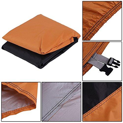 XXXL imperm/éable /à leau moto couverture ext/érieure UV prot/égeant de la poussi/ère pour Harley couleur: noir et orange