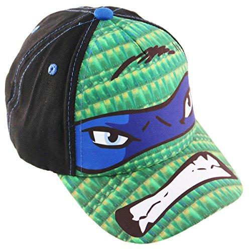 [Nickelodeon Little Boys TMNT Leonardo or Raphael Cotton Baseball Cap, Age 4-7 (Blue - Leonardo)] (Blue Ninja Turtle Name)