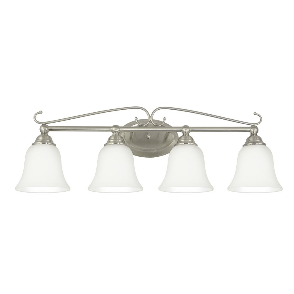 Good Earth Lighting Gotham 30-Inch 4 by 13-Watt GU24 4-Vanity Light, Brushed Nickel