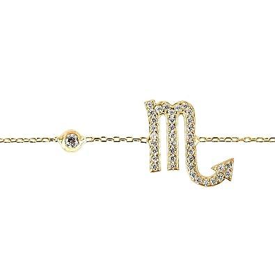 Latelita London Scorpio Zodiac Bracelet Gold 9nnPL