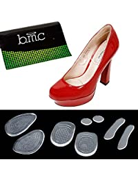 Bundle Monster 14pc Womens High Heel Shoe Cushioned Silicone Insole Inserts