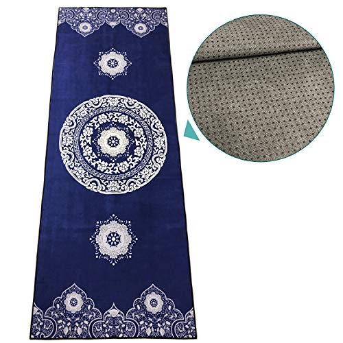 - zapita Anti-Slip Yoga Mat Towel | 2-Layer Composite & Silicone Dots | Wrinkle Resistance, Anti-Bacterial, Foldable Travel Mat | for Hot Yoga, Bikram, Vinyasa, Floor Exercises