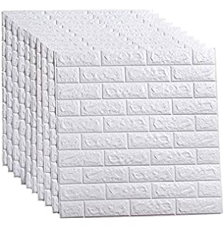 2//10pcs 3D PVC Fake Brick Wall Sticker Wall Decal Office Removable Tile Sticker