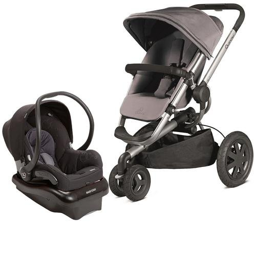 Quinny 2013 Buzz Xtra Gracious Grey Travel System w/ Maxi Cosi Mico Car Seat, Total Black