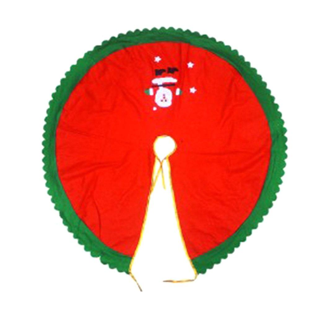 Gaosaili 90cm/35.4'' Decorative Christmas Santa Claus Design Tree Skirt XMAS 03