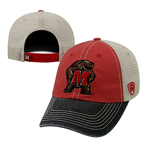 Top of the World NCAA Maryland Terrapins Offroad Snapback Mesh Back Adjustable Hat, One Size, Red/Black/Khaki