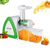 Masticating Juicer Extractor, ICOCO Digital Slow Masticating Juicer Machine for Higher Nutritional Value and Juice Yield by Quiet Motor from Fresh Fruit and Vegetable with Juice Jug and Cleaning Brush