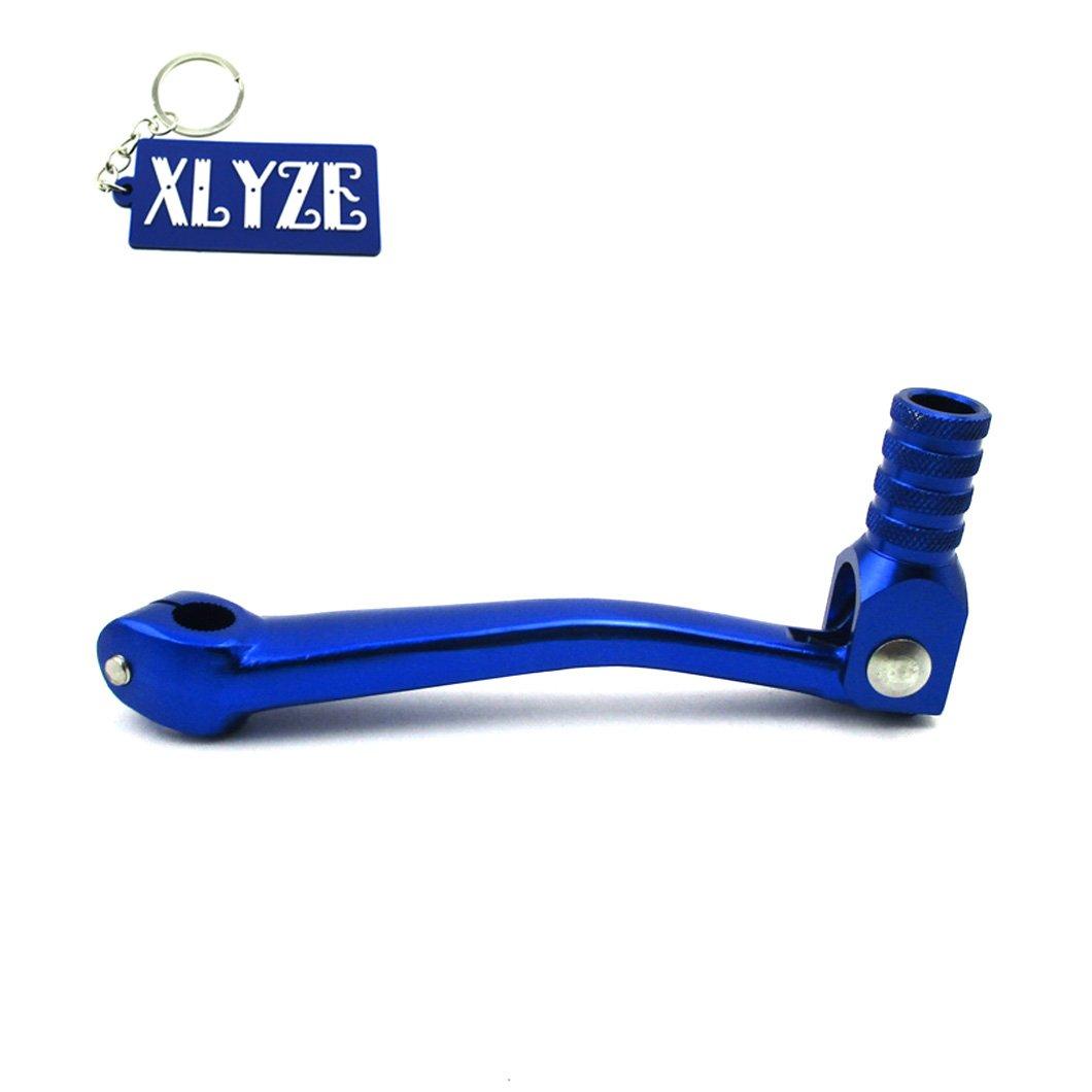 XLYZE CNC Aluminum Folding Gear Shifter Shift Lever Blue for 50cc 110cc 125cc 140cc 150cc 160cc Pit Dirt Bikes TTR XR50 CRF50 KLX110