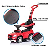 Ride On Car Mercedes Benz GL63 Push Car with PU Seat, Footrest, MP3 Player (Red)