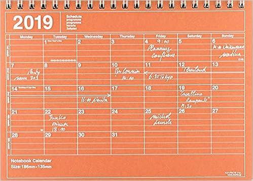 El libro de MarkŽS: Mark's 2019 Tischkalender S Orange