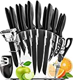 Stainless Steel Knife Set with Block 17 Piece Set
