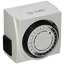 Titan Controls 734100 Apollo 8 2-Outlet 24-Hour Analog Timer, 120-volt