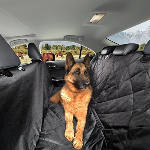 [Dog Seat Covers for Cars SUVs & Trucks-Protect Your Car Backseat From Dirt-Dog Car Seat Hammock Convertible Style-Waterproof-NonSlip & Anti Scratch-Black-Bonus 2 Pet Safety Seat] (Easy Access Costumes)