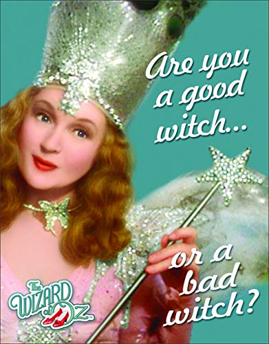 Wizard Of Oz The Good Witch (Desperate Enterprises The Wizard of Oz - are You A Good Witch Or A Bad Witch Tin Sign, 12.5